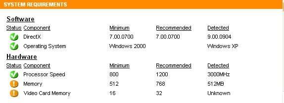 operating system requirements